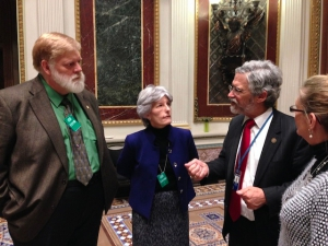 ETS leads and John Holdren