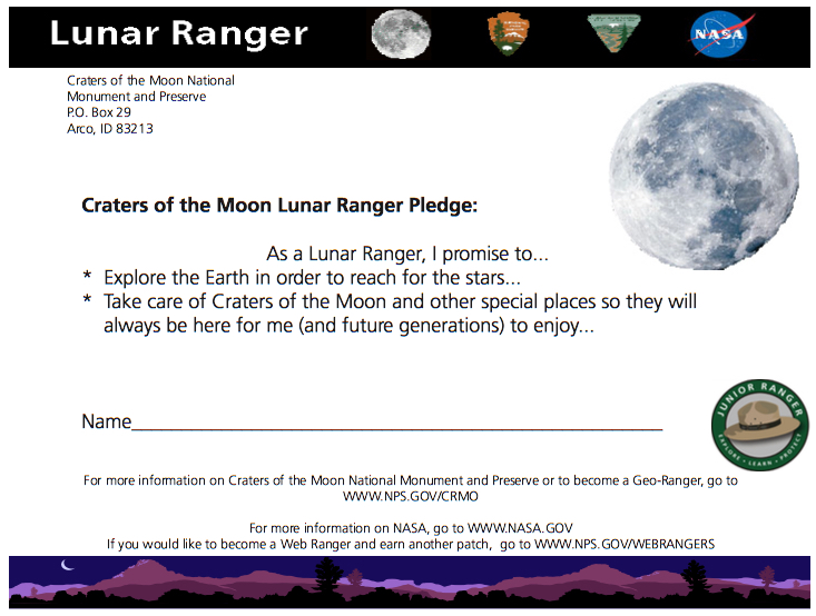Lunar Ranger Pledge
