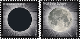 image of heat sensitive eclipse stamp